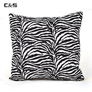Black & White Zebra Pattern Cushion Pillow
