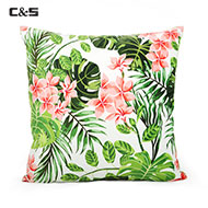Custom Printed Rainforest Leaves Cushion