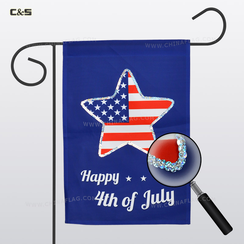 American Independence Day Garden Flag