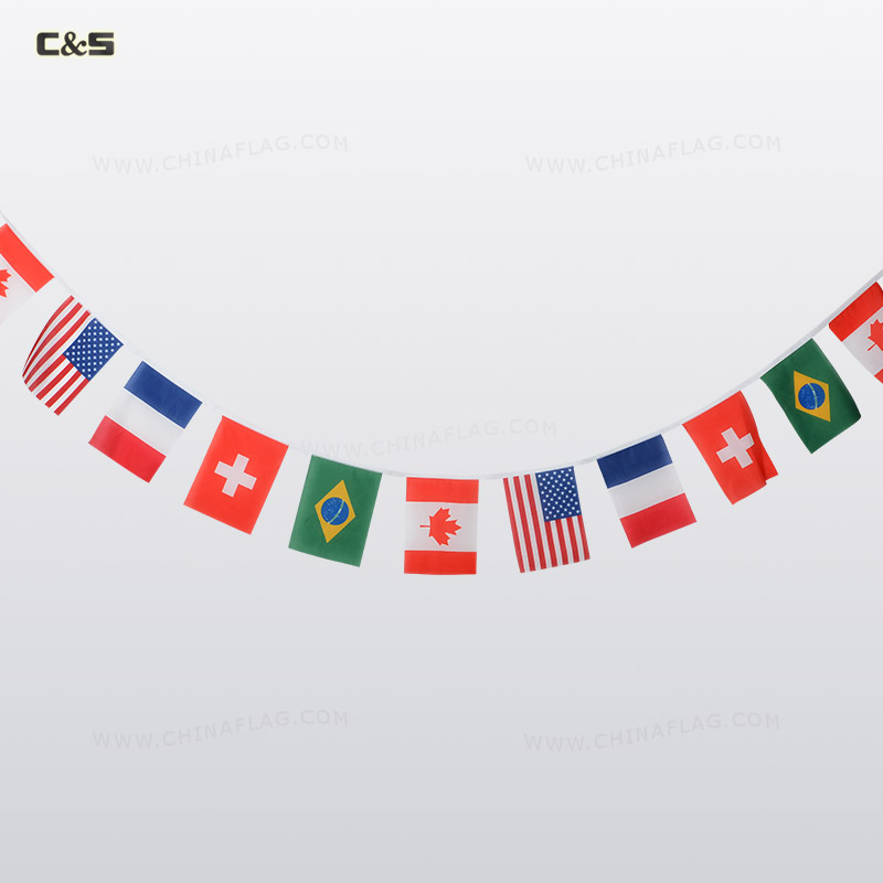 World Flags Banner String